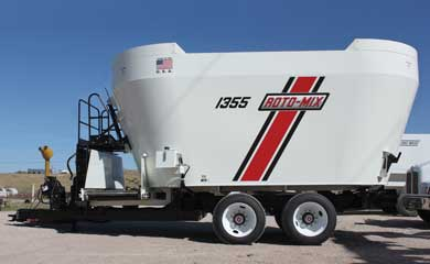 Roto-Mix 1355H Vertical Mixer Side View