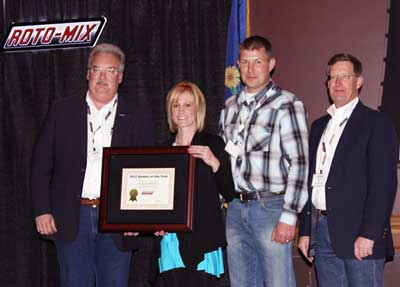 Roto-Mix 2012 Dealer Of The Year Award