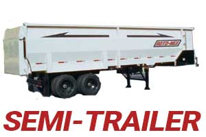 Feed Delivery Boxes Semi Trailer