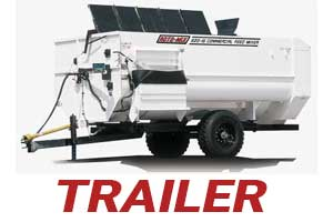 horizontal rotary feed mixer trailer