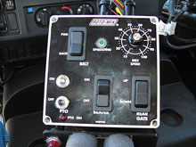 Truck Cab Panel Gives Driver Complete Control