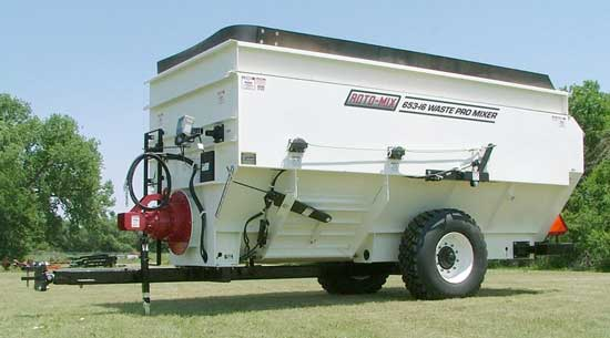 Roto-Mix 653-15 Waste Pro Mixer on Trailer