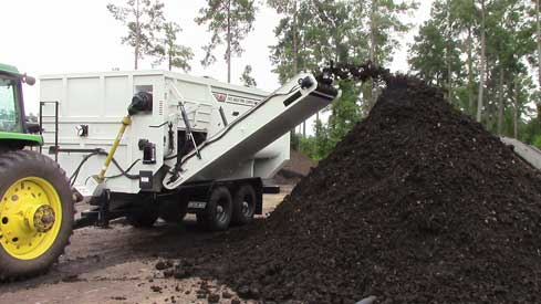 compost rotary trailer